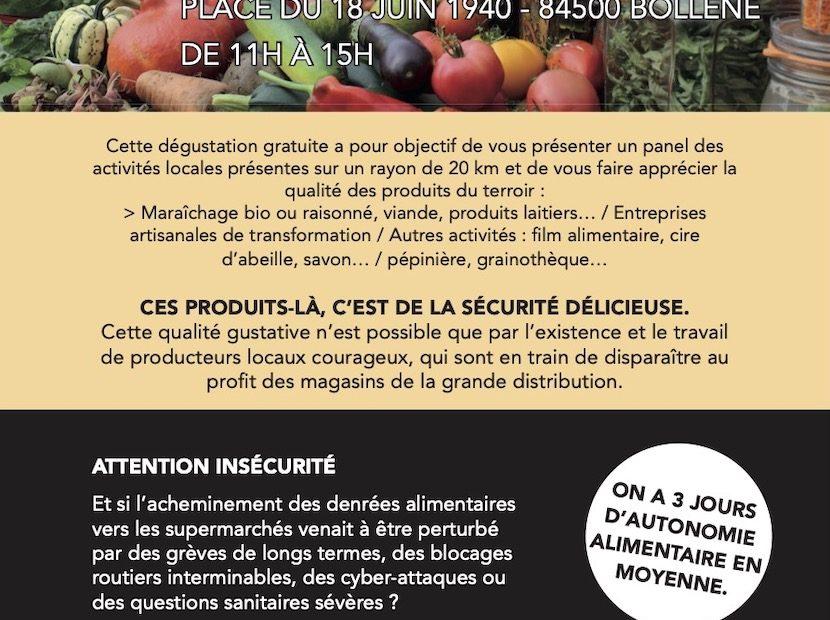 Flyer de la dégustation DICRIM mars 2021 à Bollène - page 1