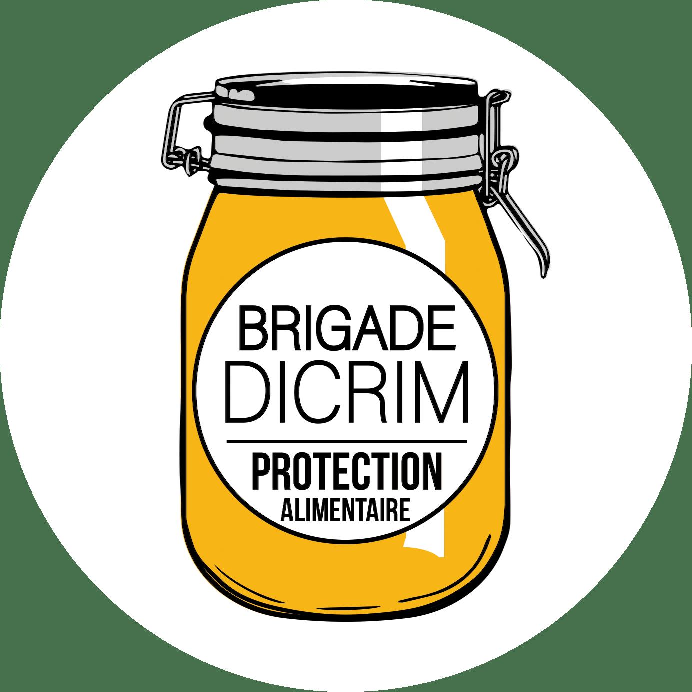 Logo bocal protection alimentaire DICRIM Fond blanc rond